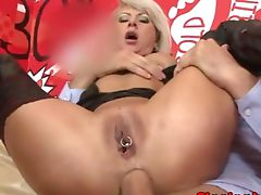 Anal fucked pierced mature butt drilled Anal fucked pierced mature butt drilled