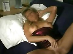 Kristin rubs her pussy After her husband leaves for work and the crumb grabbers are on the school..