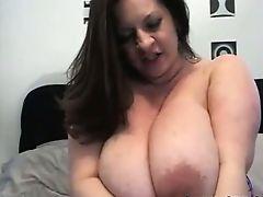 BBW Dildo Titty Fucked