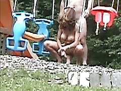 Cheating MILF Fucks on Swingset