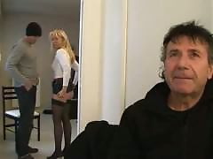We fuck his wife Fabienne in front of him
