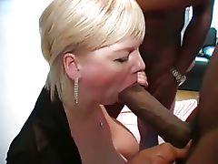 Amateur blonde milf big black cock gangbang slut