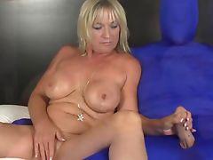 Mature Brandi Jaimes tugs while masturbating Mature Brandi Jaimes tugs while masturbating