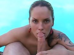 fat pecker is in her mouth bad the sex begins