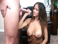 Step mom teaching her step son to jerk off