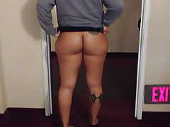 Tall Babe Flashes Wide Hips and Ass c33bdogg