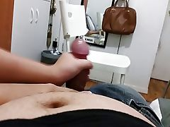 Wife jerking for cum