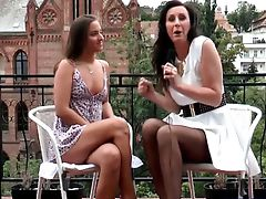 4k HD Lesbians with teen and a milf
