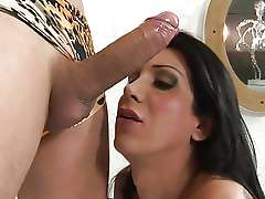 Big tit brunette shemale