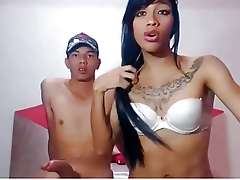 Asians Young Girl  and Boy On Webcam