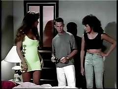 Vintage tranny movie, nice threesome sex