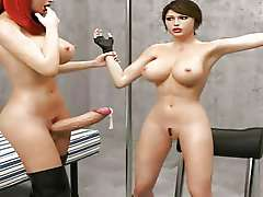 lara croft cell x, 3d cartoon tranny