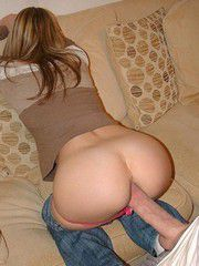 The young teen girl with tight slits..