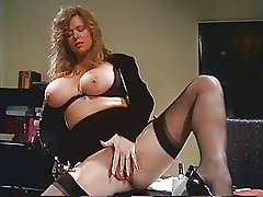 Blonde german BBW in retro porn