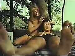 Public retro fucking outdoor