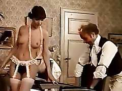 Retro banging with doctor and hairy pussy