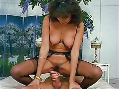 Busty wife rides of cock, Oriental Boudoir