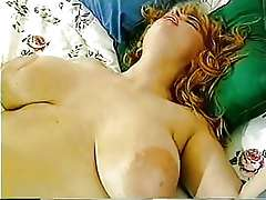 Natural huge boobs of mature housewife