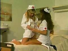 Two busty nurses retro sex