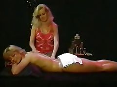 Erotic lesbian vintage video, hot naked massage