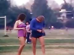 This retro dirty girls playing With Fire